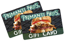 Primanti Bros. gift cards