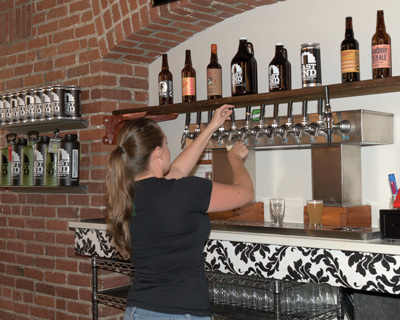 East End Brewing has many choices of their beers on tap