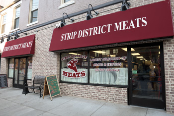 Exterior of Strip District Meats
