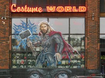 Window mural at Costume World