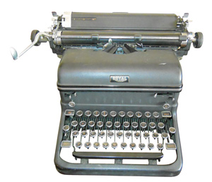 Typewriter from Zerrer's Antiques