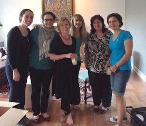 The original Midnight Helpers—left to right: Connie Stamoolis, Catina Stamoolis, Nina Williams, ROY, Zelfa Khalil, Christina Catsoulas Toras.