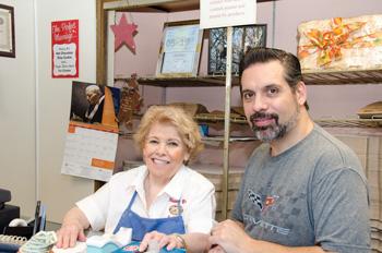 Nancy B's Bakery owners Nancy Bertram and her son, Mike Runco.