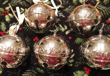 Wallace Silversmiths' sleigh bells, from a series of 46.