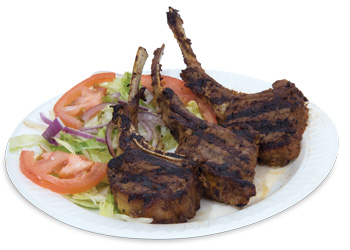 All-natural lamb chops