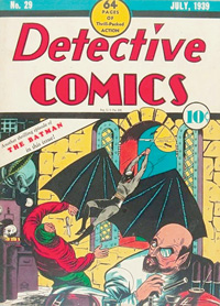 The cover of Detective Comics #29 featuring Bat-Man.