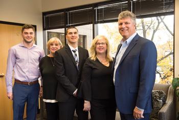 Dukovich & Associates (left to right): Sullivan Conway, JoAnn Bossinger, Matt Dukovich, Judith Dukovich, and George Dukovich.