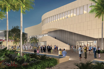A rendering of the renovated Baker Art Museum.